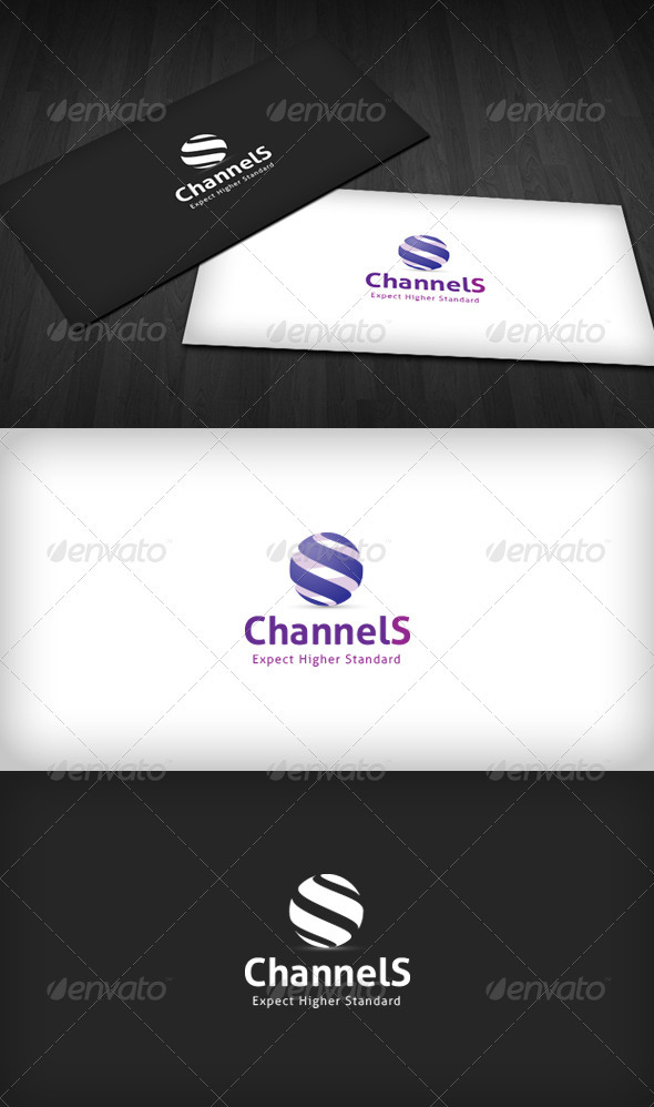 Channel S Logo - 3d Abstract