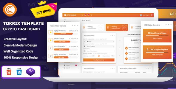 Tokrix – ICO Admin & Crypto Dashboard