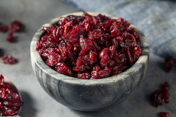 Healthy Organic Dried Cranberries - Stock Photo - Images