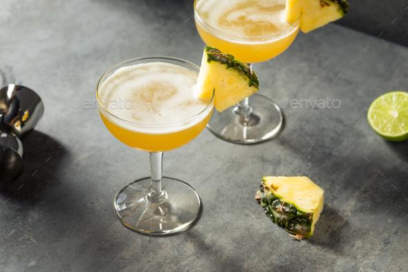Boozy Refreshing Barracuda Pineapple Daiquiri - Stock Photo - Images