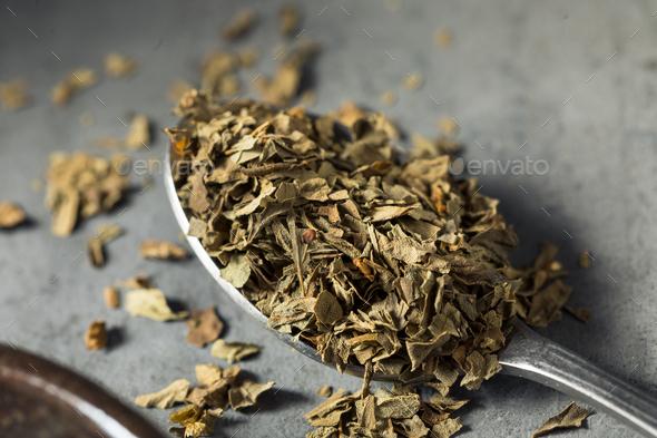 Dry Organic Basil Spice - Stock Photo - Images