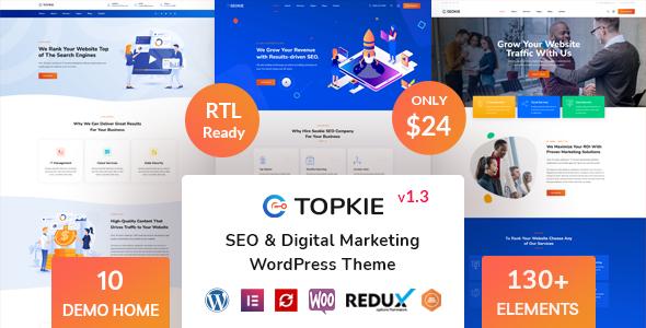 Topkie - SEO Marketing WordPress Theme