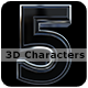 Bold Metallic 3D Characters - GraphicRiver Item for Sale