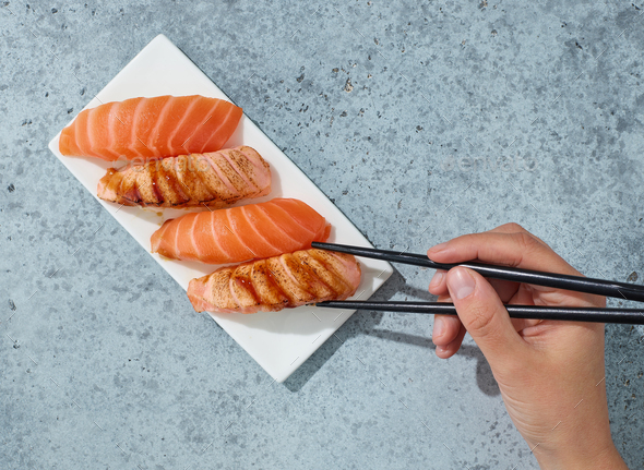 plate of sushi - Stock Photo - Images