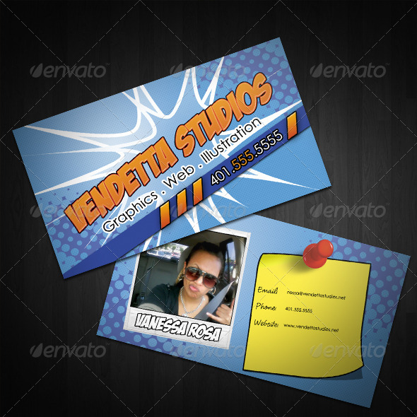 Kablam business cards by vendettastudios graphicriver kablam business cards creative business cards reheart Images