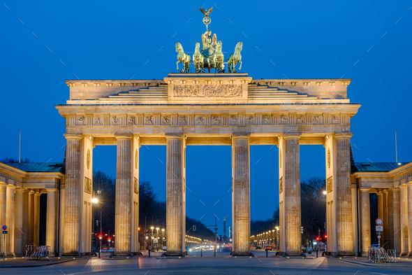 The Brandenburg Gate in Berlin - Stock Photo - Images