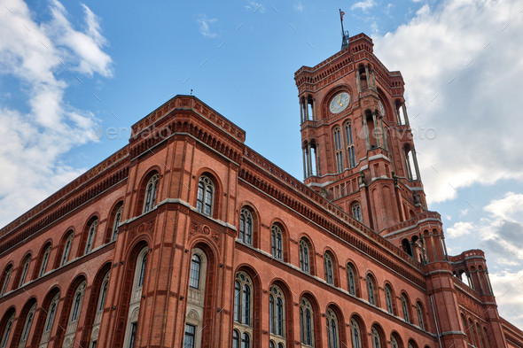 The famous Rotes Rathaus - Stock Photo - Images
