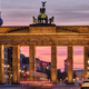 The famous Brandenburg Gate before sunrise - PhotoDune Item for Sale