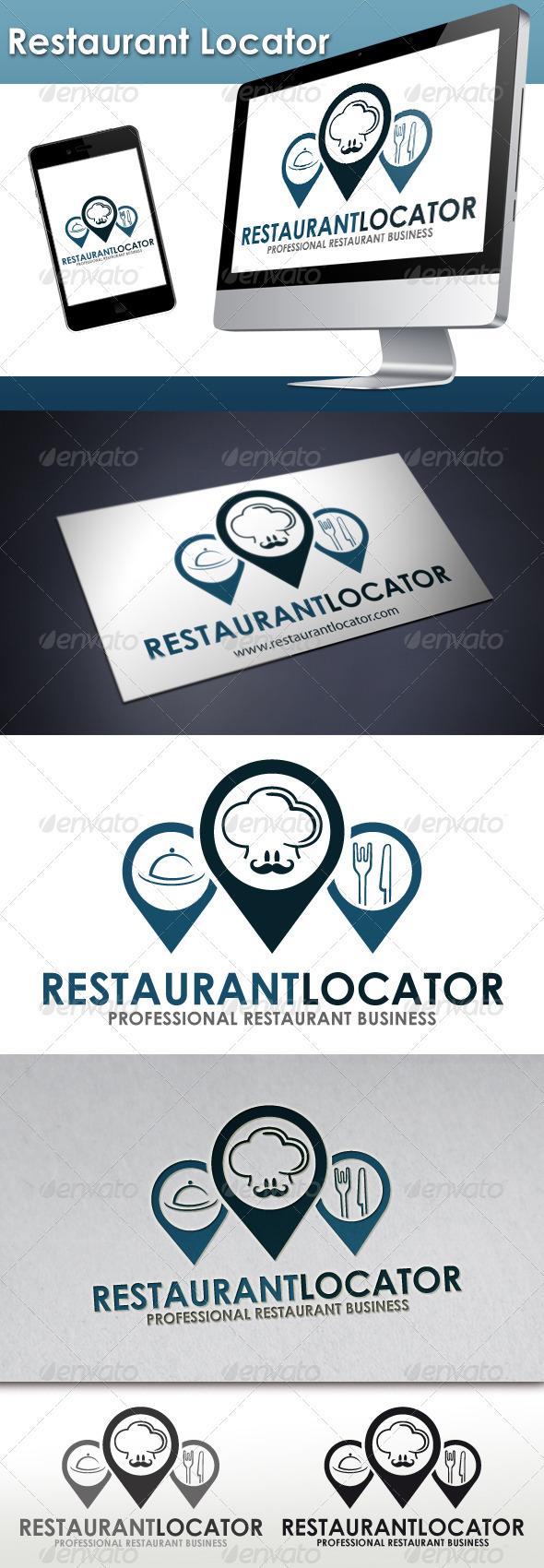 Restaurant Locator Logo - Restaurant Logo Templates