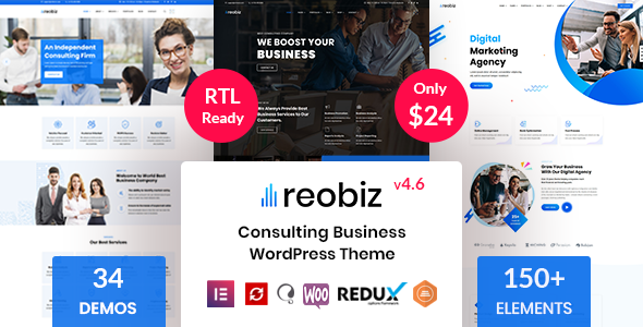 Reobiz - Consulting Business WordPress Theme Nulled