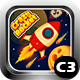 Crazy Rocket 2 Space Shooter Game (Construct 3 | C3P | HTML5) Admob and FB Instant Ready