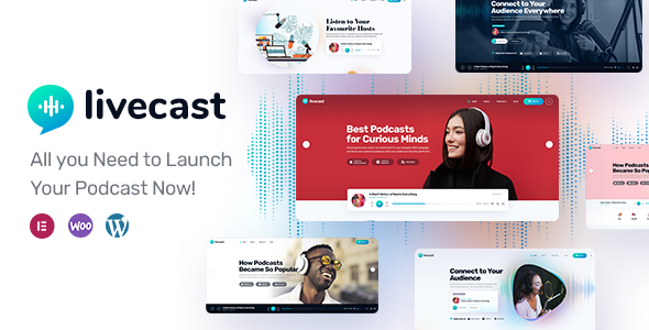 Download Livecast – Podcast Theme Free Nulled