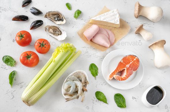 Assortment of Umami foods - Stock Photo - Images