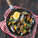 Fried mussels on the frying pan - PhotoDune Item for Sale