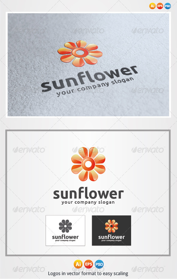 Sun Flower - Symbols Logo Templates