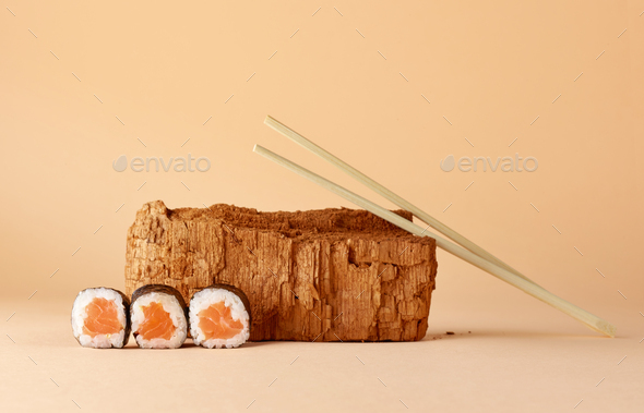 modern still life with sushi - Stock Photo - Images