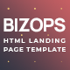 Bizops - Online Business Opportunities HTML Landing Page Template