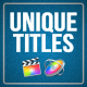 Unique Titles for FCPX - VideoHive Item for Sale