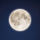 Iridescent glow of full moon in the night starry sky - PhotoDune Item for Sale
