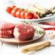 The raw beef meat steak on plate. - PhotoDune Item for Sale