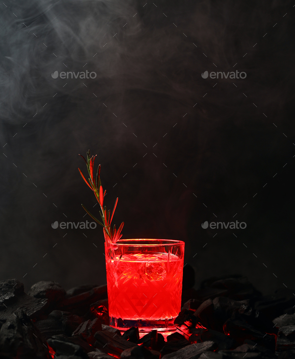 Glass With An Alcoholic Cocktail - Stock Photo - Images