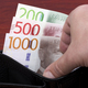Swedish krona in the black wallet - PhotoDune Item for Sale