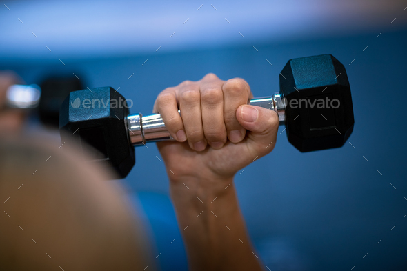 Woman with a Dumbbells - Stock Photo - Images