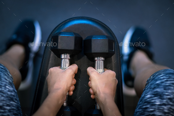 Sportswoman in the Gym - Stock Photo - Images