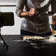 Young chef streaming virtual masterclass of cooking bakery online wat home inside kitchen - PhotoDune Item for Sale