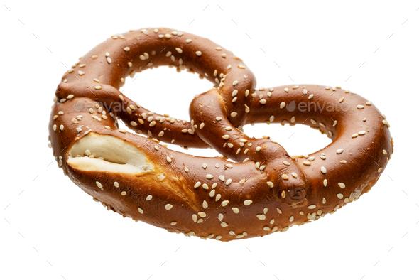Traditional homemade pretzel - Stock Photo - Images
