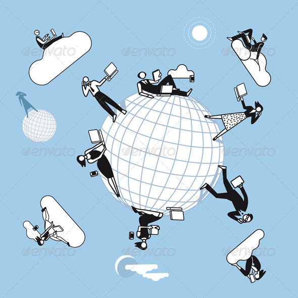 Cloud Computing  Planet - Technology Conceptual