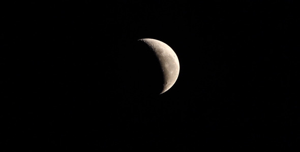 crescent moon and jupiter at 560mm by azamshah72v videohive
