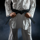 Male karateka, fighter having black belt - PhotoDune Item for Sale