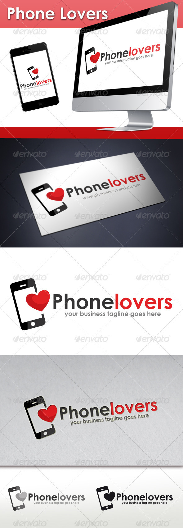 Phone Lovers Logo - Objects Logo Templates