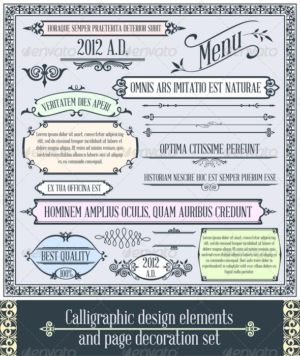 Calligraphic design elements 2 - Decorative Vectors