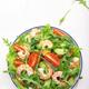 Summer shrimp salad with tomatoes, lettuce, arugula, avocado, cucumber and lemon dressing - PhotoDune Item for Sale