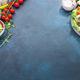 Shrimp salad with tomatoes, lettuce, arugula, avocado, cucumber and lemon dressing - PhotoDune Item for Sale