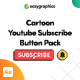 Cartoon Youtube Subscribe Button Pack - VideoHive Item for Sale