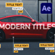 Modern Titles Package | Call Outs - VideoHive Item for Sale
