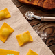 Raw homemade ravioli pasta with spinach and ricotta - PhotoDune Item for Sale