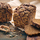 Homemade bread on dark wooden table - PhotoDune Item for Sale