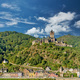 Cochem town in Germany on Moselle river with Reichsburg castle - PhotoDune Item for Sale