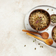 Breakfast quinoa bowls with micro greens and pumpkin seeds - PhotoDune Item for Sale
