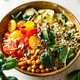 Quinoa, chickpeas and vegetables bowl - PhotoDune Item for Sale