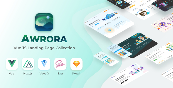 Awrora - Vue JS Landing Page Collection