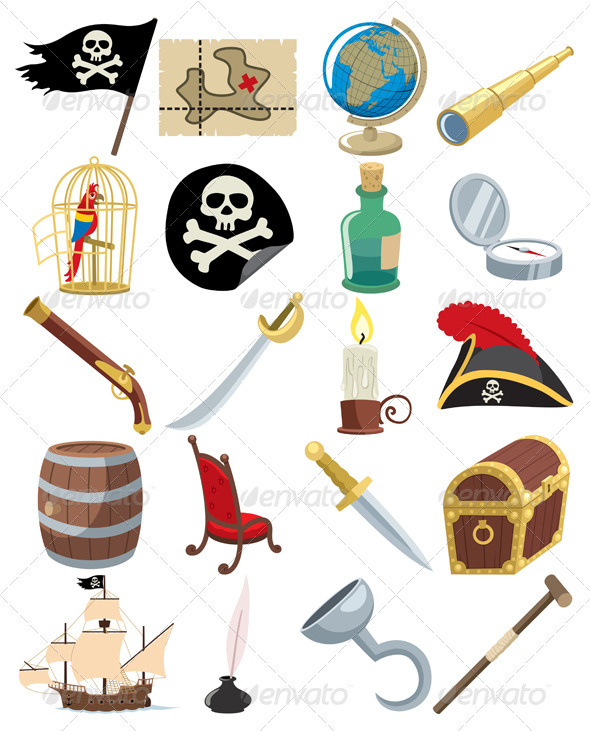 Pirate Icons - Web Elements