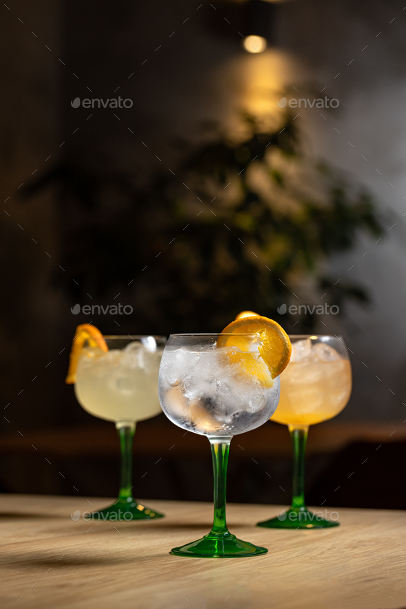 Gin and tonic alcohol drink - Stock Photo - Images