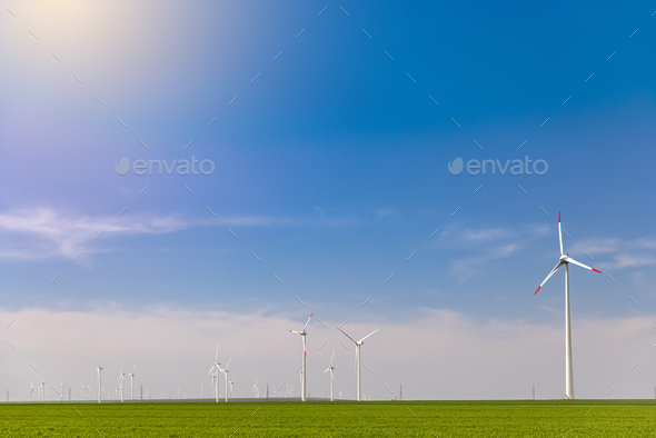 Wind farm or wind park - Stock Photo - Images