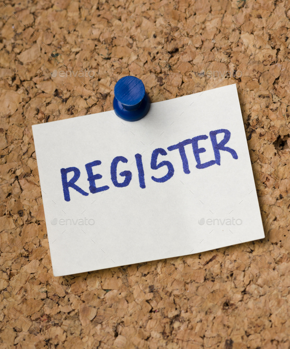 Sticker with register note - Stock Photo - Images