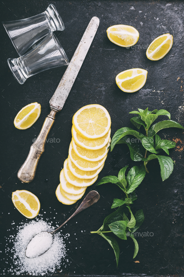 Cocktail ingredients - Stock Photo - Images